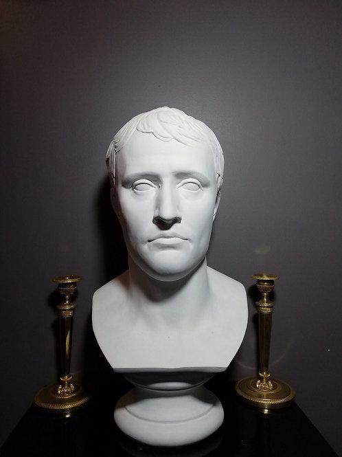 Napoléon d'Après Chaudet: grand Buste En Plâtre.