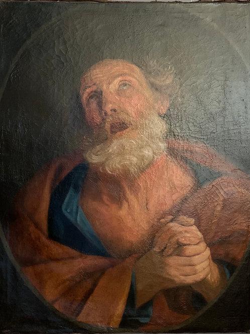 XVIIe siècle, entourage de GUIDO RENI: Les larmes de Saint Pierre.