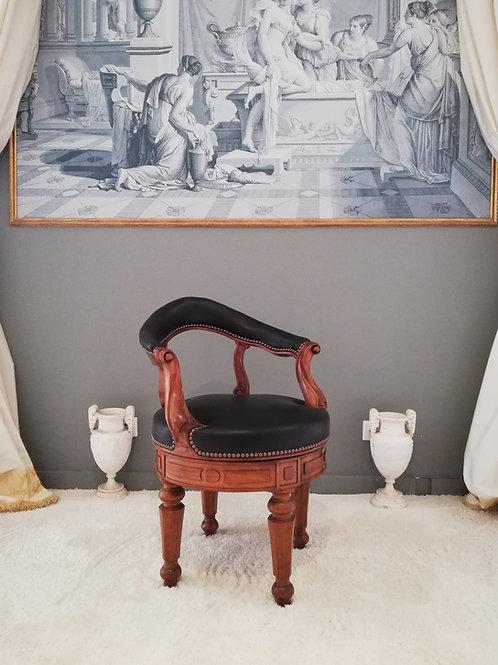 acob Georges Alphonse : Fauteuil de bureau à assise tournante, vers 1830