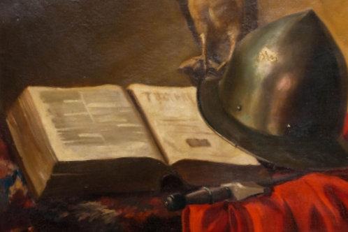 Entourage de J. B Siméon Chardin, huile sur toile du XVIIIe.