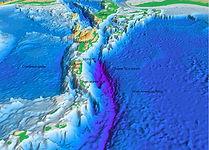 Fosse sous-marine de Porto Rico. On y voit les îles du nord des Petites Antilles.