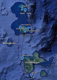 Parcours de la croisière Antigua et Barbuda avec Skipper Jules