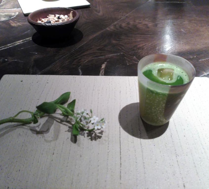 Matcha and Sake cocktail - very tasty indeed