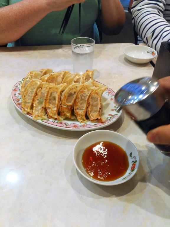 Plenty of gyoza dumplings in Shimo-kitazawa