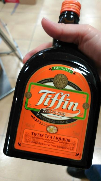 Tiffin Tea liquor that we did not try...