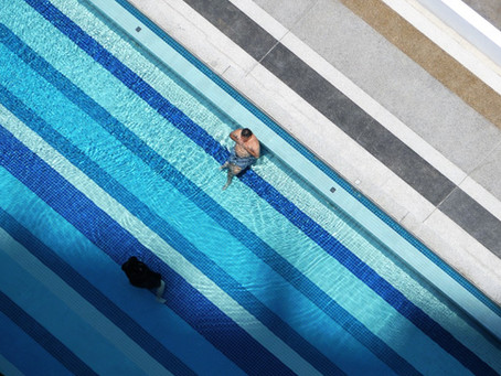 Entering the Pool in Penang
