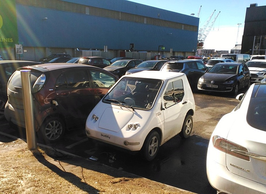 Electric cars are endemic (this one is a Buddy)