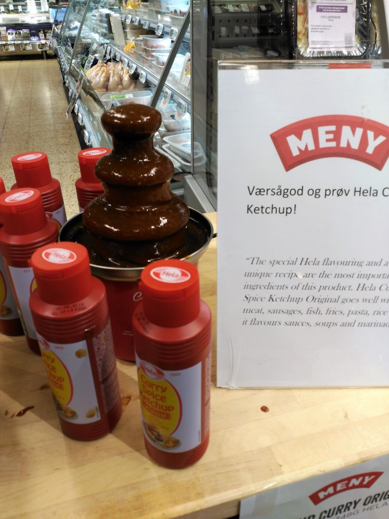 A mouth-watering Curry Spice Ketchup Fountain, Norway