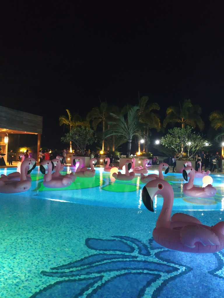 Solaire Casino Manila Flamingos Pool