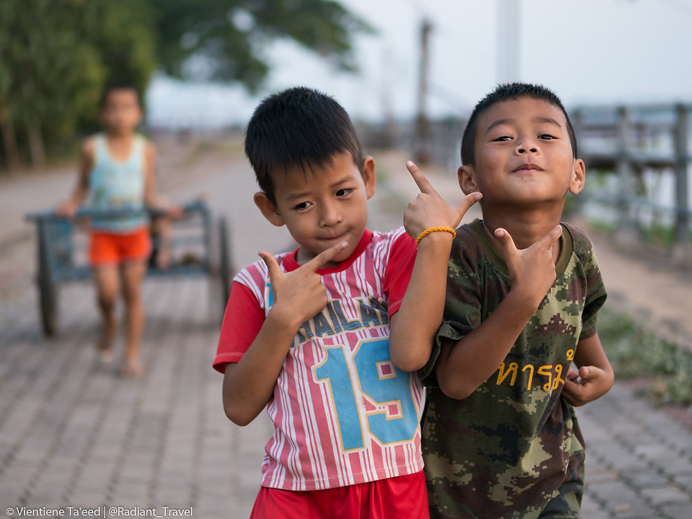 Playful Boys on the Mekong