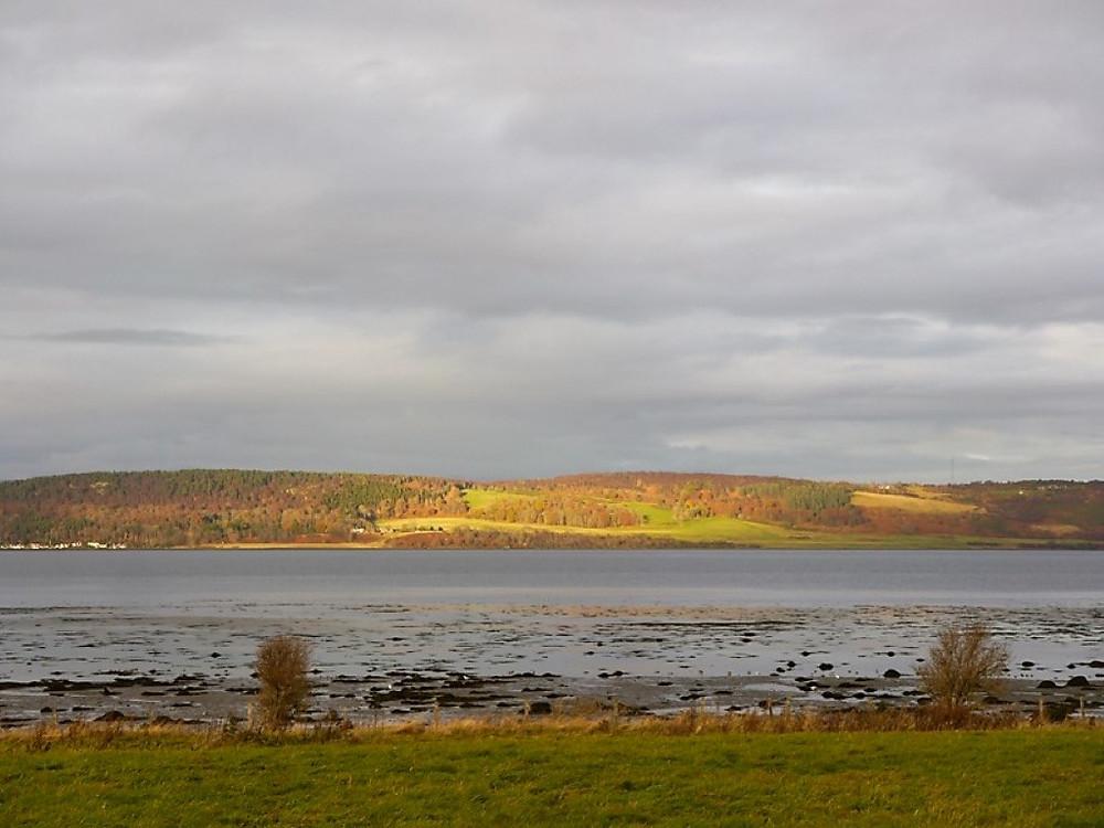Inverness sun through the grey skies