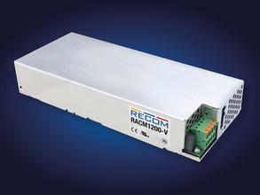 RECOM Compact 1200W Power Supply is Baseplate Cooled