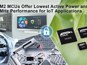 Lowest Active Power, Industry-Leading Performance and Security for IoT Applications