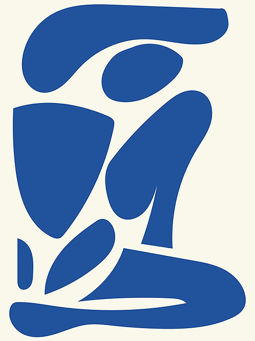 FIGURE ABSTRACT BLUE