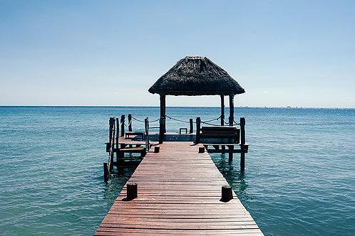 PIER ON BLUE SEA