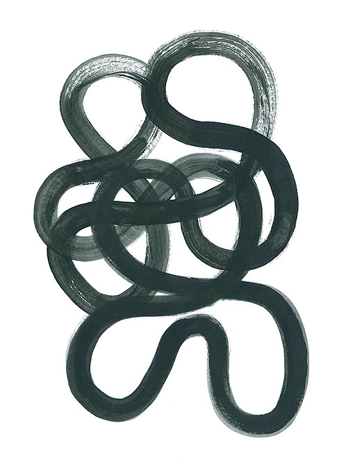 ABSTRACT MINIMALIST PAINT SQUIGGLE