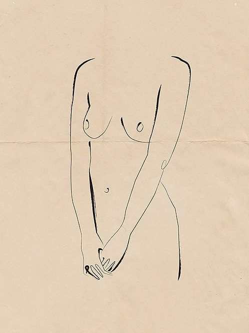 PENCIL ON PAPER NUDE 01