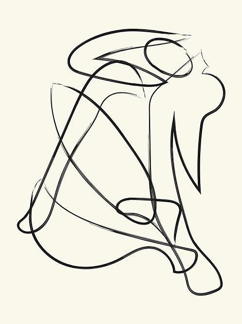 DECONSTRUCTED LINES FIGURE NATURAL