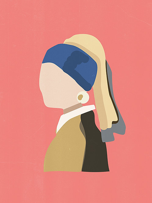 GIRL WITH PEARL EARRING PINK