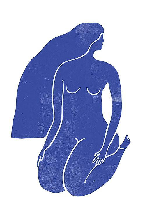 WOODBLOCK GIRL BLUE 2
