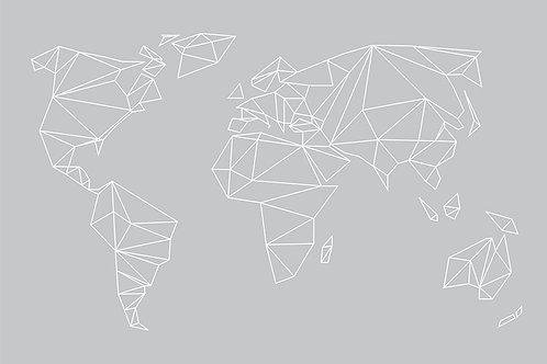 GEOMETRICAL WORLD - GRAY