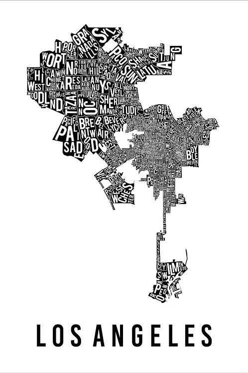 MAPA TIPOGRÁFICO LOS ANGELES BRANCO