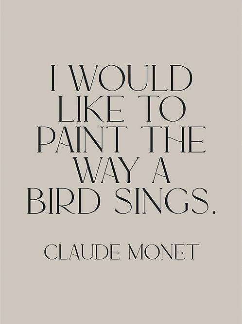 WAY A BIRD SINGS