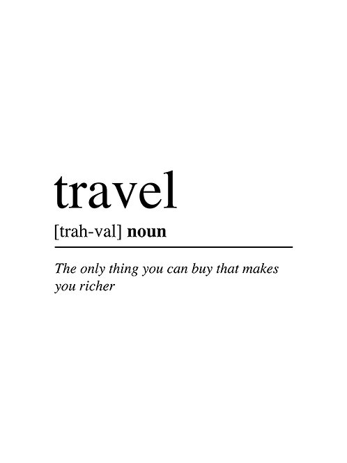 TRAVEL WORD DEFINITION
