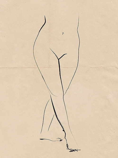 PENCIL ON PAPER NUDE 02