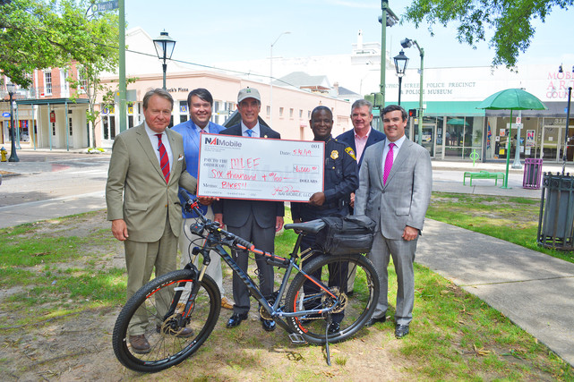 NAI Mobile Donates $6,000 for Mobile Police Department Bicycle Initiative