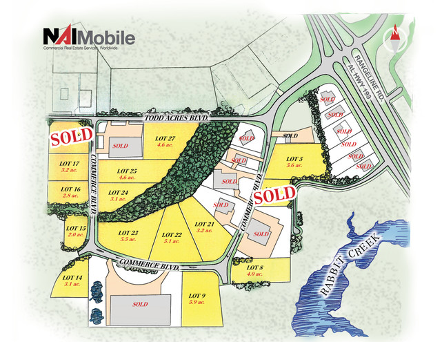 Industrial Lot Sale in Mobile Commerce Park