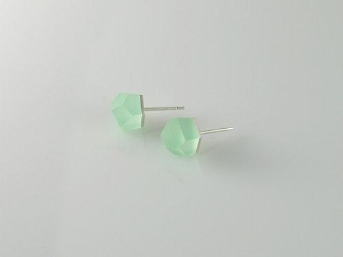 flash green silver earrings
