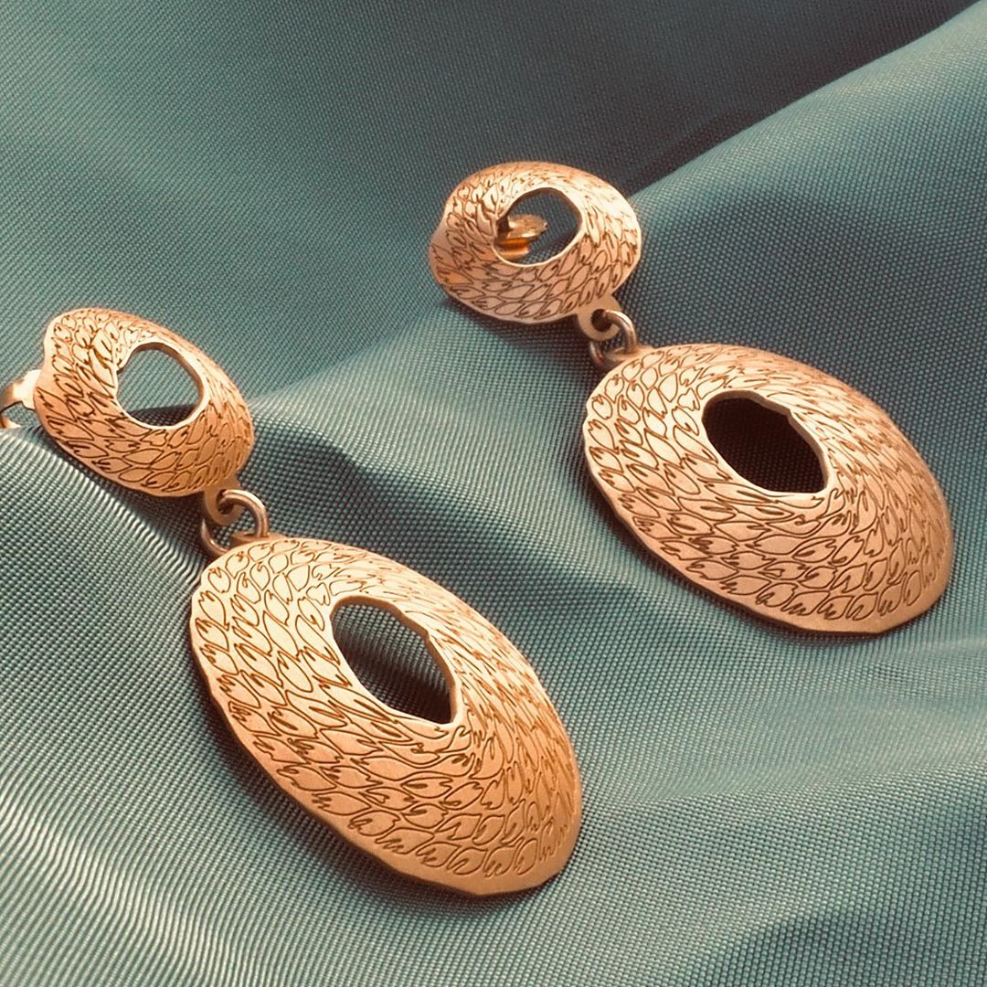 gold plated silver earrings Penelope