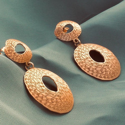 gold plated silver earrings Penelope
