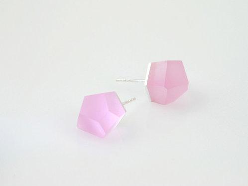 carnation pink silver earrings