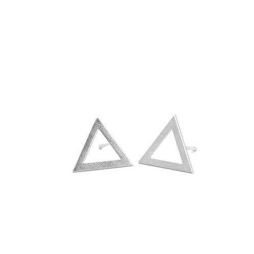 Silver studs triangle