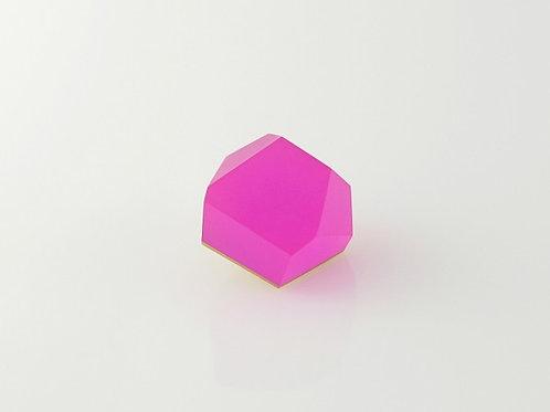 magenta pink silver ring top