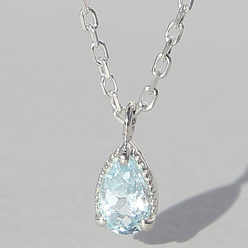 Silver Necklace With Topaz