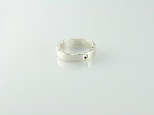 signed silver ring band