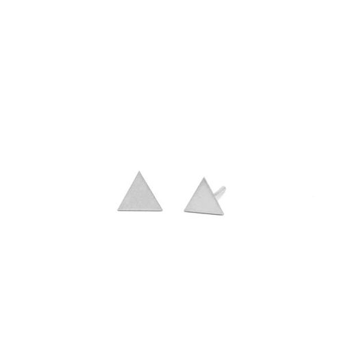 triangle shape silver studs