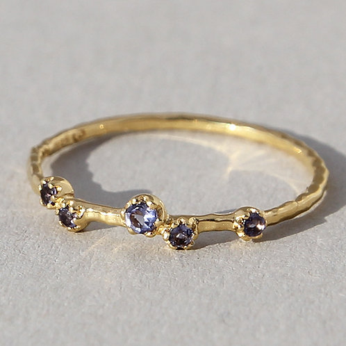 Gold Plated Silver Ring With iolite