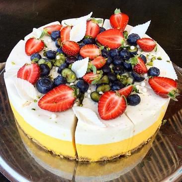 Mango-yuzu tort