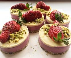 Raspberry-white chocolate raw vegan cake