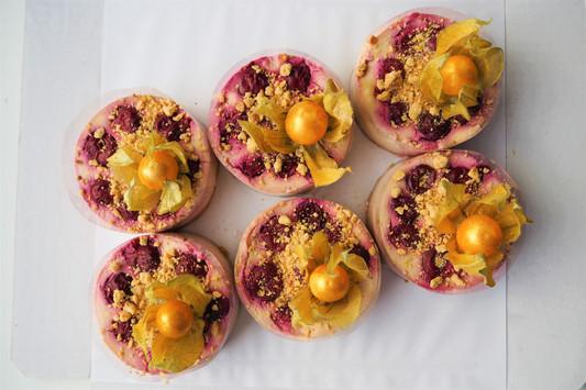 Kirsi-martsipani juustukoogikesed