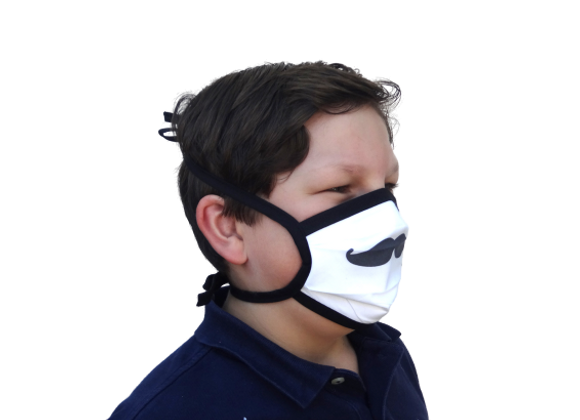 5 Masques Grand Public Junior moustache