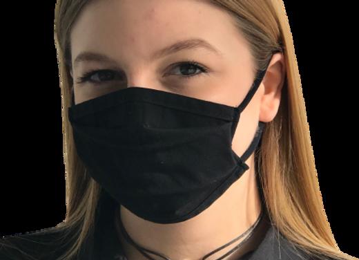 5 Masques Grand Public Junior 11 et + à élastiques - Noir