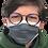 Thumbnail: 5 Masques junior 11 ans et + élastiques - gris