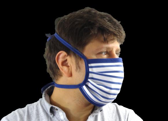 5 Masques Grand Public Marin