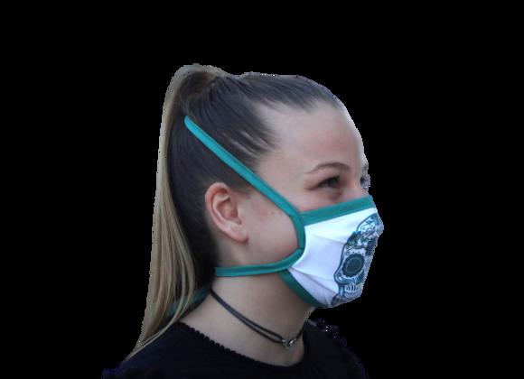 5 Masques Grand Public Junior Tête de mort verte