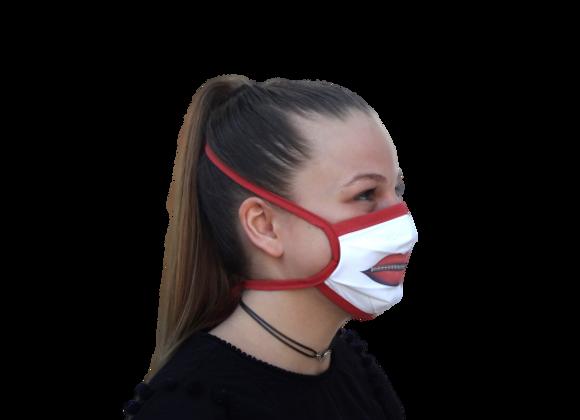 5 Masques Grand Public Junior Bouche rouge